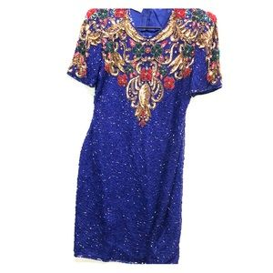 Vintage 80's SCALA beaded gown